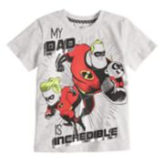 "Disney / Pixar The Incredibles 2 Toddler Boy ""My Dad Is Incredible"" Graphic Tee by Jumping Beans®"