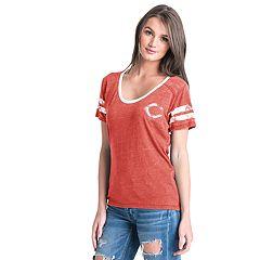 Women's Cincinnati Reds Burnout Wash Tee