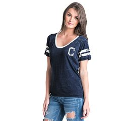 Women's Cleveland Indians Burnout Wash Tee