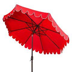 Safavieh 9-ft. Scalloped Trim Patio Umbrella