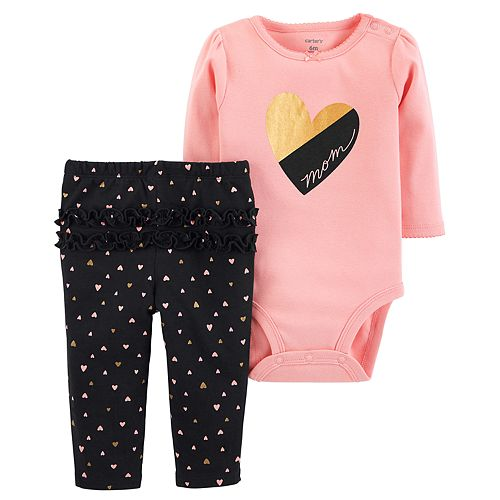 Carters Baby Girls 2 Piece Printed Tank Top and Geo Printed Shorts Set