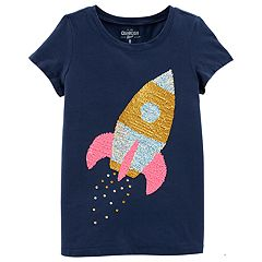 Girls 4-12 OshKosh B'gosh® Reversible Sequin Spaceship Tee