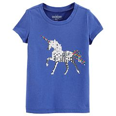 Girls 4-12 OshKosh B'gosh® Reversible Sequin Unicorn Tee