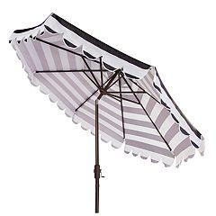 Safavieh 9-ft. Striped Scalloped Trim Patio Umbrella