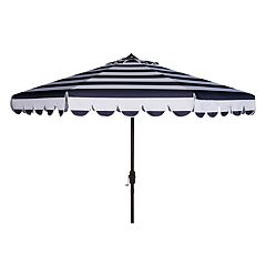 Safavieh 9-ft. Striped Scalloped Trim Patio Umbrella