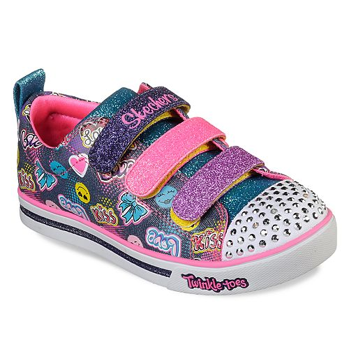 4fe570803a50 Skechers Twinkle Toes Shuffles Sparkle Glitz Girls  Light Up Shoes