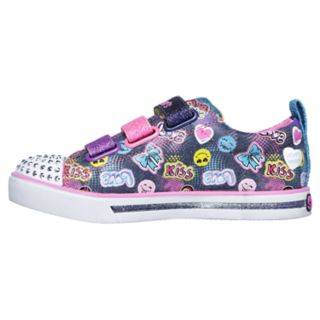 Skechers Twinkle Toes Shuffles Sparkle Glitz Girls' Light Up Shoes