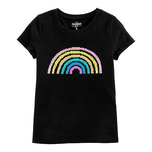 Girls 4-12 OshKosh B'gosh® Reversible Sequin Rainbow Tee