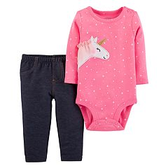 Baby Girl Carter's Unicorn Bodysuit & Jeggings Set