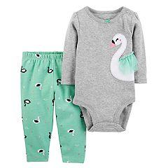 Baby Girl Carter's Swan Bodysuit & Leggings Set