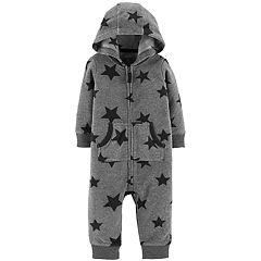 Baby Boy Carter's Stars Fleece Hooded Coverall
