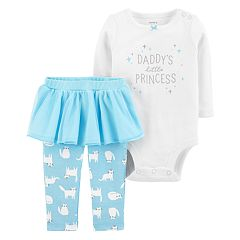 Baby Girl Carter's 'Daddy's Little Princess' Bodysuit and Skirted Leggings Set
