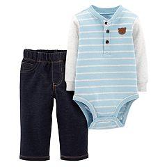 Baby Boy Carter's Henley Bodysuit & Pants Set