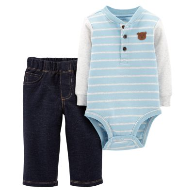 Baby Boy Carters Henley Bodysuit  Pants Set