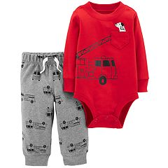 Baby Boy Carter's Fire Truck Bodysuit & Pants Set