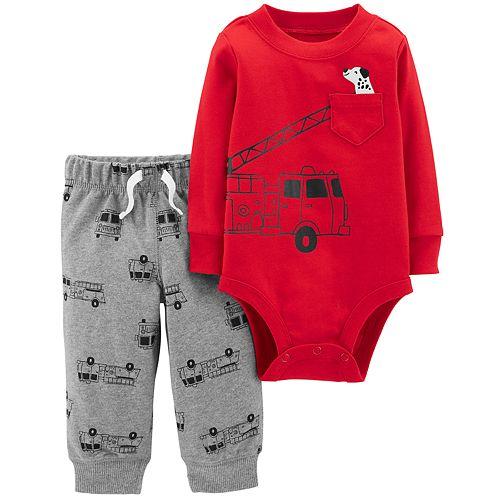 f7e69a19c380 Baby Boy Carter s Fire Truck Bodysuit   Pants Set