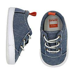 Baby Boy Carter's Chambray Sneaker Crib Shoes