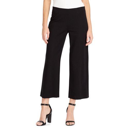 Women's Chaps Crop Midrise Wide-Leg Ponte Pants