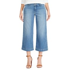 Women's Chaps Wide-Leg Crop Jeans
