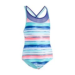 Girls 4-16 Under Armour Water Stripe One-Piece Swimsuit