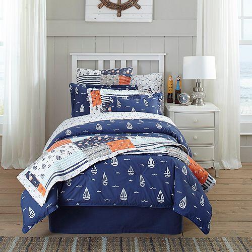 Lullaby Bedding Away At Sea Oblong Throw Pillow