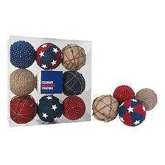 Celebrate Americana Together Patriotic Ball Vase Filler 9-piece Set