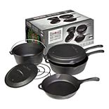 Camp Chef 6-Piece Cast-Iron Cookware Set