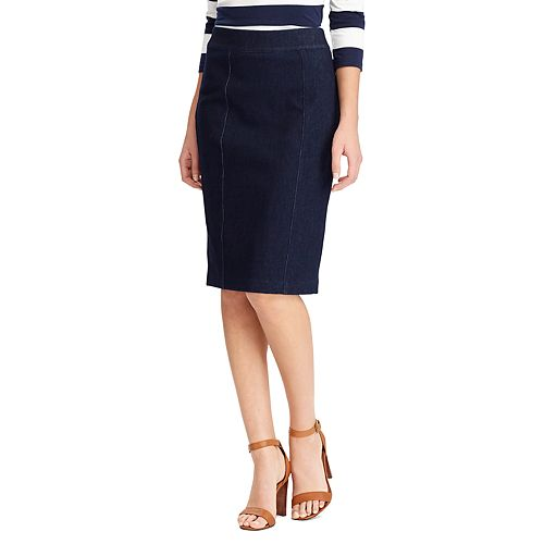 Women's Chaps Jean Pencil Skirt