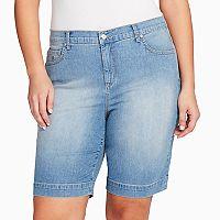 Plus Size Gloria Vanderbilt Amanda Embellished Bermuda Shorts