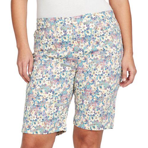 a4ec2f8567d Plus Size Gloria Vanderbilt Amanda Embellished Bermuda Shorts
