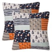 Lullaby Bedding Away At Sea 2-pack Euro Shams