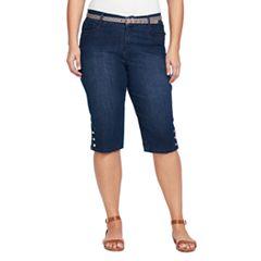 Plus Size Gloria Vanderbilt Sasha Skimmer Capris