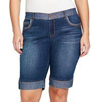 Plus Size Gloria Vanderbilt Jessa Bermuda Shorts