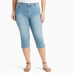 Plus Size Gloria Vanderbilt Amanda Twill Capris