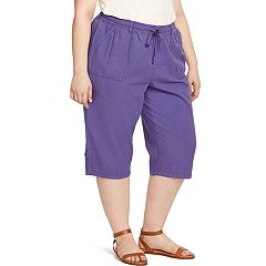 Plus Size Gloria Vanderbilt Lillith Lace-Up Hem Capris