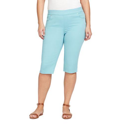 38f9927a54d Plus Size Gloria Vanderbilt Avery Pull-On Skimmer Capris