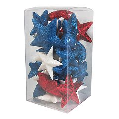 Celebrate Americana Together Glitter Star Vase Filler 29-piece Set