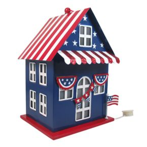 Celebrate Americana Together Pre-Lit Patriotic House Table Decor