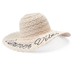 Women's Mudd® 'Summer Vibes' Crochet Floppy Hat