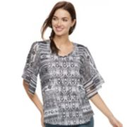 Women's World Unity Printed Chiffon Top