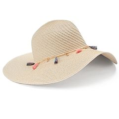 Women's Mudd® Tassel & Chain Floppy Hat