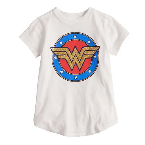 Girls 4-10 Jumping Beans® DC Comics Wonder Woman Logo Tee