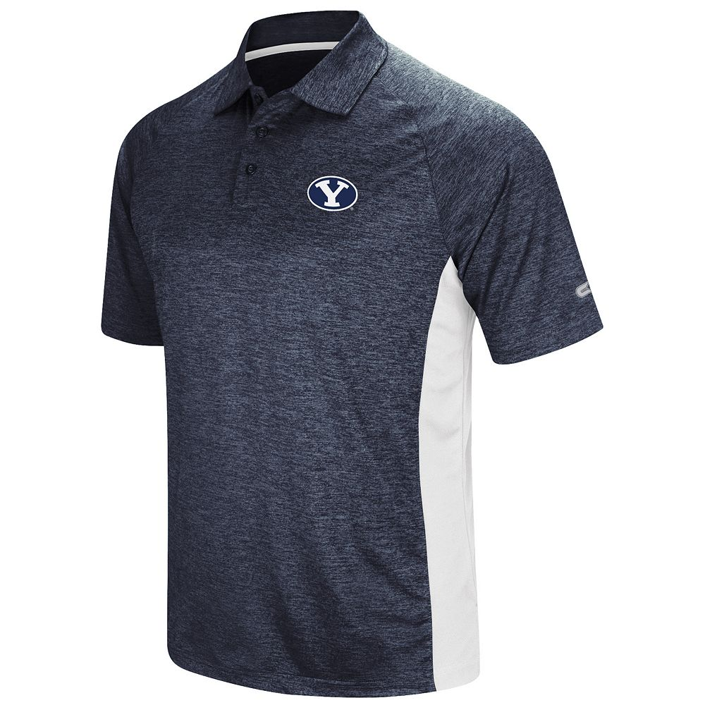 Men's Colosseum BYU Cougars  Wedge Polo