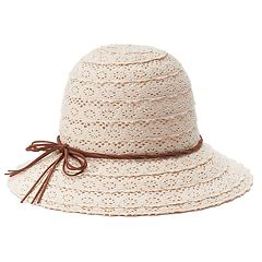 Women's Mudd® Crochet Cloche Hat
