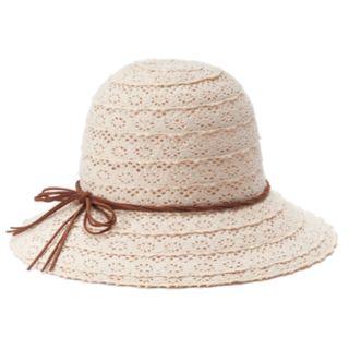 Women's Mudd® Crochet Cloche Hat