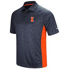 Men's Colosseum Illinois Fighting Illini  Wedge Polo