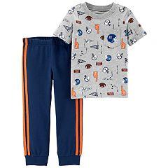 Baby Boy Carter's 2-pc. Sports Pocket Tee & Striped Jogger Pants Set