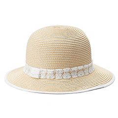 Women's Mudd® Lace Band & Brim Cloche Hat