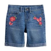 Girls 4-12 SONOMA Goods for Life? Embroidered Denim Bermuda Shorts