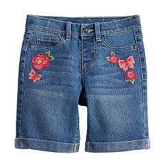 Girls 4-12 SONOMA Goods for Life™ Embroidered Denim Bermuda Shorts